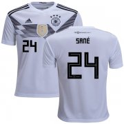 Wholesale Cheap Germany #24 Sane White Home Kid Soccer Country Jersey