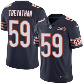 Wholesale Cheap Nike Bears #59 Danny Trevathan Navy Blue Team Color Men\'s 100th Season Stitched NFL Vapor Untouchable Limited Jersey