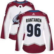 Wholesale Cheap Adidas Avalanche #96 Mikko Rantanen White Road Authentic Women's Stitched NHL Jersey