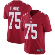 Wholesale Cheap Nike Giants #75 Cameron Fleming Red Youth Stitched NFL Limited Inverted Legend Jersey