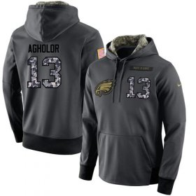 Wholesale Cheap NFL Men\'s Nike Philadelphia Eagles #13 Nelson Agholor Stitched Black Anthracite Salute to Service Player Performance Hoodie