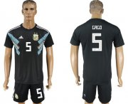 Wholesale Cheap Argentina #5 Gago Away Soccer Country Jersey
