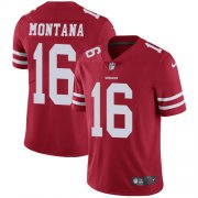 Wholesale Cheap Nike 49ers #16 Joe Montana Red Team Color Youth Stitched NFL Vapor Untouchable Limited Jersey