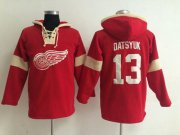 Wholesale Detroit Red Wings #13 Pavel Datsyuk Red Pullover NHL Hoodie