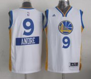 Wholesale Cheap Golden State Warriors #9 Andre Iguodala Revolution 30 Swingman 2014 Christmas Day White Jersey