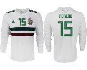Wholesale Cheap Mexico #15 H.Moreno Away Long Sleeves Soccer Country Jersey