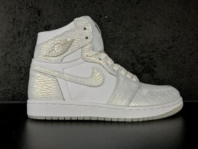 Wholesale Cheap Air Jordan 1 Pure Platinum White/Metallic Silver
