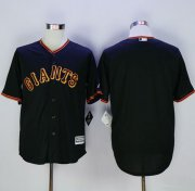 Wholesale Cheap Giants Blank Black New Cool Base Fashion Stitched MLB Jersey