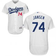 Wholesale Cheap Dodgers #74 Kenley Jansen White Flexbase Authentic Collection Stitched MLB Jersey