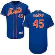 Wholesale Cheap Mets #45 Tug McGraw Blue Flexbase Authentic Collection Stitched MLB Jersey
