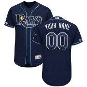 Wholesale Cheap Tampa Bay Rays Majestic Home Authentic Collection Flex Base Custom Jersey Navy