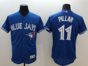 Wholesale Cheap Blue Jays #11 Kevin Pillar Blue Flexbase Authentic Collection Stitched MLB Jersey