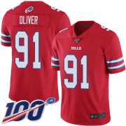 Wholesale Cheap Nike Bills #91 Ed Oliver Red Men's Stitched NFL Limited Rush 100th Season Jersey