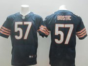 Wholesale Cheap Nike Bears #57 Jon Bostic Navy Blue Team Color Men's Stitched NFL Elite Jersey