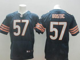 Wholesale Cheap Nike Bears #57 Jon Bostic Navy Blue Team Color Men\'s Stitched NFL Elite Jersey
