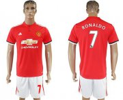 Wholesale Cheap Manchester United #7 Ronaldo Red Home Soccer Club Jersey