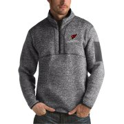 Wholesale Cheap Arizona Cardinals Antigua Fortune Sweater Knit Microfleece Quarter-Zip Pullover Jacket Charcoal