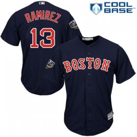 Wholesale Cheap Red Sox #13 Hanley Ramirez Navy Blue Cool Base 2018 World Series Stitched Youth MLB Jersey