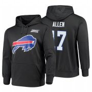 Wholesale Cheap Buffalo Bills #17 Josh Allen Nike NFL 100 Primary Logo Circuit Name & Number Pullover Hoodie Charcoal