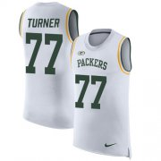 Wholesale Cheap Nike Packers #77 Billy Turner White Men's Stitched NFL Limited Rush Tank Top Jersey