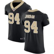 Wholesale Cheap Nike Saints #94 Cameron Jordan Black Team Color Men's Stitched NFL Vapor Untouchable Elite Jersey