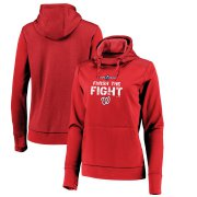 Wholesale Cheap Washington Nationals Majestic Women's 2019 World Series Bound Collection Pullover Hoodie Red