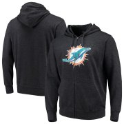Wholesale Cheap Miami Dolphins G-III Sports by Carl Banks Primary Logo Full-Zip Hoodie Charcoal