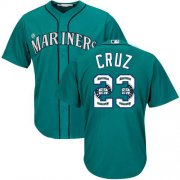 Wholesale Cheap Mariners #23 Nelson Cruz Green Team Logo Fashion Stitched MLB Jersey