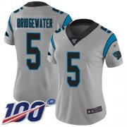 Wholesale Cheap Nike Panthers #5 Teddy Bridgewater Silver Women's Stitched NFL Limited Inverted Legend 100th Season Jersey
