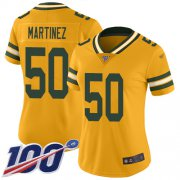 Wholesale Cheap Nike Packers #50 Blake Martinez Gold Women's Stitched NFL Limited Inverted Legend 100th Season Jersey