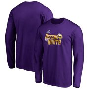 Wholesale Cheap Minnesota Vikings 2019 NFL Playoffs Bound Hometown Checkdown Long Sleeve T-Shirt Purple