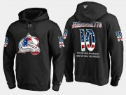 Wholesale Cheap Avalanche #10 Sven Andrighetto NHL Banner Wave Usa Flag Black Hoodie