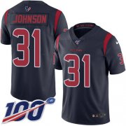 Wholesale Cheap Nike Texans #31 David Johnson Navy Blue Youth Stitched NFL Limited Rush 100th Season Jersey