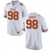 Wholesale Cheap Men's Texas Longhorns 98 Brian Orakpo White Nike College Jersey