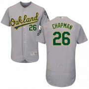 Wholesale Cheap Athletics #26 Matt Chapman Grey Flexbase Authentic Collection Stitched MLB Jersey