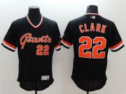 Wholesale Cheap Giants #22 Will Clark Black Flexbase Authentic Collection Cooperstown Stitched MLB Jersey