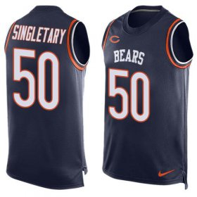 Wholesale Cheap Nike Bears #50 Mike Singletary Navy Blue Team Color Men\'s Stitched NFL Limited Tank Top Jersey
