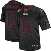Wholesale Cheap Nike Patriots #11 Julian Edelman Lights Out Black Men's Stitched NFL Elite Jersey
