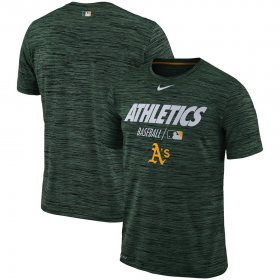 Wholesale Cheap Oakland Athletics Nike Authentic Collection Velocity Team Issue Performance T-Shirt Green