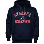 Wholesale Cheap Atlanta Braves Fastball Fleece Pullover Navy Blue MLB Hoodie