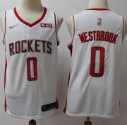 Wholesale Cheap Rockets #0 Russell Westbrook White Basketball Swingman Association Edition 2019-2020 Jersey