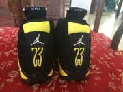 Wholesale Cheap Air Jordan 14 Thunder Shoes Black/Vibrant Yellow-White