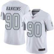 Wholesale Cheap Nike Raiders #90 Johnathan Hankins White Men's Stitched NFL Limited Rush Jersey