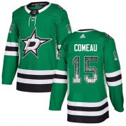 Cheap Adidas Stars #15 Blake Comeau Green Home Authentic Drift Fashion Stitched NHL Jersey