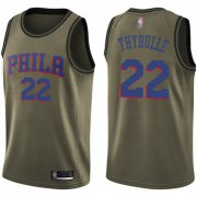 Wholesale Cheap 76ers #22 Mattise Thybulle Green Salute to Service Basketball Swingman Jersey