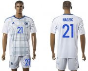 Wholesale Cheap Bosnia Herzegovina #21 Hardzic Away Soccer Country Jersey