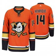Wholesale Cheap Anaheim Ducks #14 Adam Henrique Men's 2019-20 Third Orange Alternate Stitched NHL Jersey