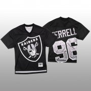 Wholesale Cheap NFL Las Vegas Raiders #96 Clelin Ferrell Black Men's Mitchell & Nell Big Face Fashion Limited NFL Jersey