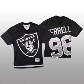 Wholesale Cheap NFL Las Vegas Raiders #96 Clelin Ferrell Black Men\'s Mitchell & Nell Big Face Fashion Limited NFL Jersey