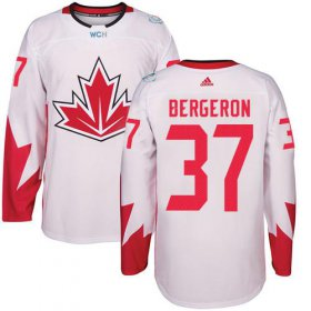 Wholesale Cheap Team Canada #37 Patrice Bergeron White 2016 World Cup Stitched Youth NHL Jersey